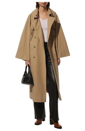 Женские кожаные ботильоны vlogo signature VALENTINO коричневого цвета, арт. WW2S0CK1/DSH | Фото 2 (Подошва: Плоская; Каблук высота: Высокий; Материал внутренний: Натуральная кожа; Каблук тип: Устойчивый)