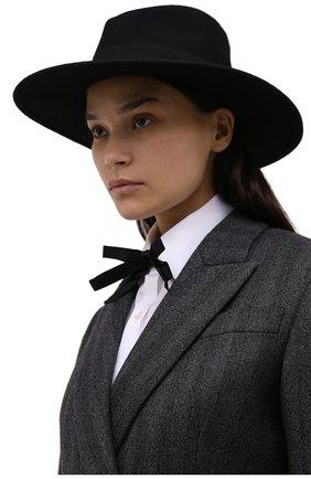 Женская шерстяная шляпа POLO RALPH LAUREN черного цвета, арт. 455858403 | Фото 2 (Материал: Шерсть)