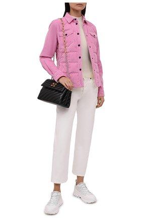 Женская хлопковая куртка nangy MONCLER GRENOBLE розового цвета, арт. G2-098-1A000-07-595E0   Фото 2 (Длина (верхняя одежда): Короткие; Материал утеплителя: Пух и перо; Рукава: Длинные; Материал подклада: Синтетический материал; Материал внешний: Хлопок; Кросс-КТ: Куртка; Стили: Спорт-шик)