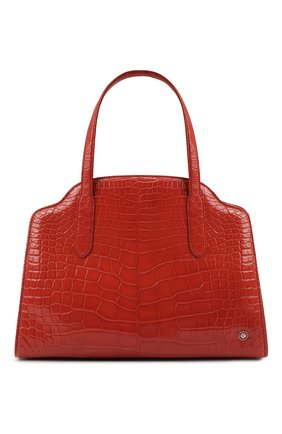 Женская сумка sesia large из кожи аллигатора LORO PIANA оранжевого цвета, арт. FAL6770/AMIS   Фото 1 (Ремень/цепочка: На ремешке; Размер: large; Сумки-технические: Сумки top-handle)