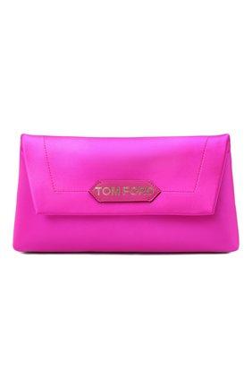 Женская сумка label small TOM FORD фуксия цвета, арт. L1504T-TSA005   Фото 1 (Материал: Текстиль; Размер: small; Сумки-технические: Сумки top-handle)