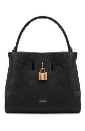 Женская сумка padlock TOM FORD черного цвета, арт. L1486T-LCL095   Фото 1 (Материал: Натуральная кожа; Ремень/цепочка: На ремешке; Размер: small; Сумки-технические: Сумки top-handle)