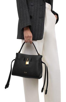 Женская сумка padlock TOM FORD черного цвета, арт. L1486T-LCL095   Фото 2 (Материал: Натуральная кожа; Ремень/цепочка: На ремешке; Размер: small; Сумки-технические: Сумки top-handle)
