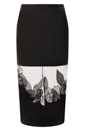 Женская кожаная юбка TOM FORD темно-коричневого цвета, арт. GCL827-LEX228 | Фото 1 (Материал подклада: Шелк; Стили: Гламурный; Женское Кросс-КТ: Юбка-одежда; Длина Ж (юбки, платья, шорты): До колена)