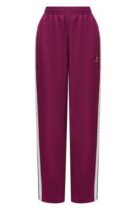 Женские брюки BALENCIAGA фуксия цвета, арт. 675483/TK048 | Фото 1 (Материал подклада: Хлопок, Вискоза; Длина (брюки, джинсы): Удлиненные; Материал внешний: Синтетический материал; Стили: Спорт-шик; Женское Кросс-КТ: Брюки-одежда; Силуэт Ж (брюки и джинсы): Широкие)