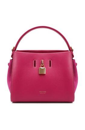 Женская сумка padlock small TOM FORD розового цвета, арт. L1486T-LCL201   Фото 1 (Размер: small; Ремень/цепочка: На ремешке; Материал: Натуральная кожа; Сумки-технические: Сумки top-handle)