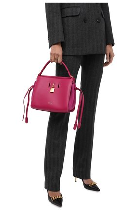 Женская сумка padlock small TOM FORD розового цвета, арт. L1486T-LCL201   Фото 2 (Размер: small; Ремень/цепочка: На ремешке; Материал: Натуральная кожа; Сумки-технические: Сумки top-handle)