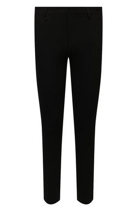 Мужские брюки HUGO черного цвета, арт. 50459942 | Фото 1 (Материал внешний: Вискоза, Синтетический материал; Длина (брюки, джинсы): Стандартные; Случай: Формальный; Стили: Классический)
