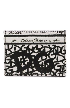 Мужской кожаный футляр для кредитных карт DOLCE & GABBANA белого цвета, арт. BP0330/AQ276 | Фото 1