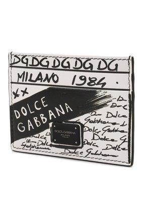 Мужской кожаный футляр для кредитных карт DOLCE & GABBANA белого цвета, арт. BP0330/AQ276 | Фото 2