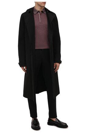 Мужские шерстяные брюки ERMENEGILDO ZEGNA черного цвета, арт. 216587/6100A3 | Фото 2 (Материал подклада: Вискоза; Длина (брюки, джинсы): Стандартные; Материал внешний: Шерсть; Случай: Формальный; Стили: Классический)