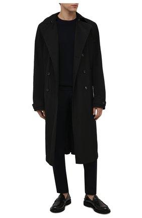 Мужской шерстяной свитер ERMENEGILDO ZEGNA темно-синего цвета, арт. UYM98/111 | Фото 2 (Материал внешний: Шерсть; Рукава: Длинные; Длина (для топов): Стандартные; Мужское Кросс-КТ: Свитер-одежда; Принт: Без принта; Стили: Классический)