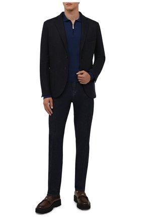 Мужские джинсы ANDREA CAMPAGNA темно-синего цвета, арт. AC402/T27.W00D | Фото 2 (Материал внешний: Хлопок; Длина (брюки, джинсы): Стандартные; Кросс-КТ: Деним; Стили: Классический; Силуэт М (брюки): Прямые)