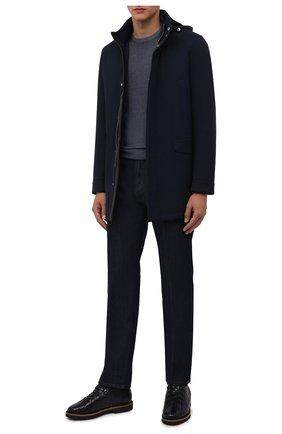 Мужские джинсы ANDREA CAMPAGNA темно-синего цвета, арт. AC402/T203.W00E | Фото 2 (Материал внешний: Хлопок; Кросс-КТ: Деним; Стили: Классический; Силуэт М (брюки): Прямые; Длина (брюки, джинсы): Стандартные)