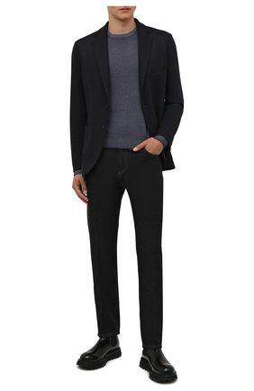 Мужские джинсы ANDREA CAMPAGNA темно-серого цвета, арт. AC402/T28.W00D | Фото 2 (Материал внешний: Хлопок; Длина (брюки, джинсы): Стандартные; Кросс-КТ: Деним; Стили: Классический; Силуэт М (брюки): Прямые)