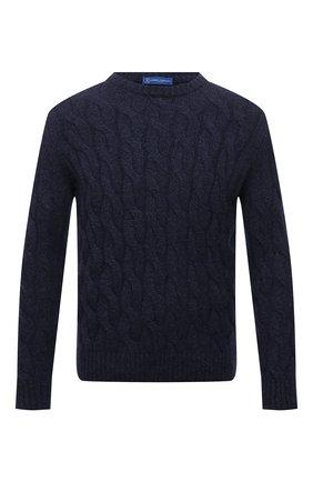 Мужской кашемировый свитер ANDREA CAMPAGNA темно-синего цвета, арт. WU22-9321-F100 | Фото 1 (Материал внешний: Кашемир, Шерсть; Длина (для топов): Стандартные; Рукава: Длинные; Мужское Кросс-КТ: Свитер-одежда; Принт: Без принта; Стили: Кэжуэл)