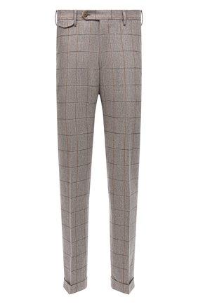 Мужские шерстяные брюки ANDREA CAMPAGNA бежевого цвета, арт. VULCAN0Z/VB1456   Фото 1 (Материал подклада: Синтетический материал; Материал внешний: Шерсть; Случай: Повседневный; Стили: Кэжуэл; Длина (брюки, джинсы): Стандартные)