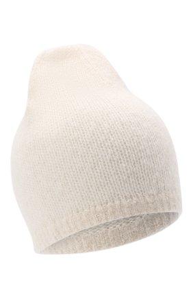 Женская шапка из кашемира и шелка RALPH LAUREN кремвого цвета, арт. 290856609 | Фото 1 (Материал: Шерсть, Кашемир)