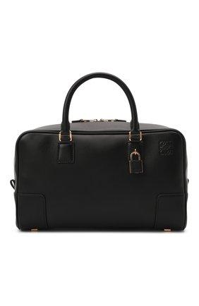 Женская сумка amazona 28 LOEWE черного цвета, арт. A039N08X01   Фото 1 (Материал: Натуральная кожа; Сумки-технические: Сумки top-handle; Размер: medium; Ремень/цепочка: На ремешке)