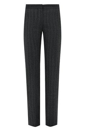 Женские шерстяные брюки ALEXANDER MCQUEEN серого цвета, арт. 639932/QJACG | Фото 1 (Материал подклада: Купро; Материал внешний: Шерсть; Длина (брюки, джинсы): Удлиненные; Стили: Гламурный; Женское Кросс-КТ: Брюки-одежда; Силуэт Ж (брюки и джинсы): Прямые)