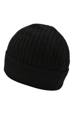 Мужская шерстяная шапка HUGO черного цвета, арт. 50435690 | Фото 2 (Материал: Шерсть; Кросс-КТ: Трикотаж)