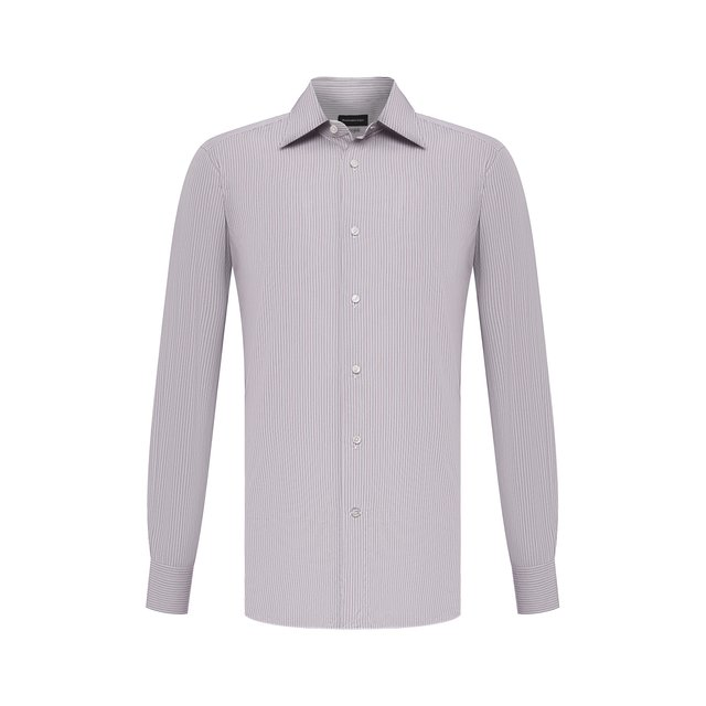 Хлопковая сорочка Ermenegildo Zegna 12280238