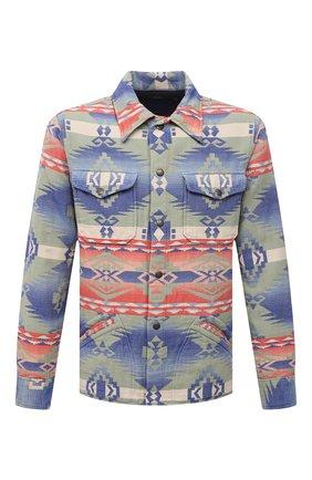 Мужская хлопковая куртка RRL разноцветного цвета, арт. 782840769 | Фото 1 (Материал внешний: Хлопок; Кросс-КТ: Куртка, Ветровка; Длина (верхняя одежда): Короткие; Стили: Бохо; Рукава: Длинные)