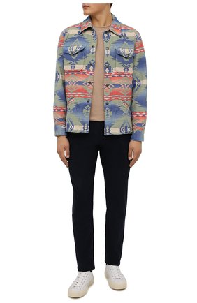 Мужская хлопковая куртка RRL разноцветного цвета, арт. 782840769 | Фото 2 (Материал внешний: Хлопок; Кросс-КТ: Куртка, Ветровка; Длина (верхняя одежда): Короткие; Стили: Бохо; Рукава: Длинные)