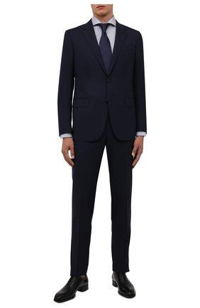 Мужская хлопковая сорочка ETON синего цвета, арт. 1000 02348 | Фото 2 (Материал внешний: Хлопок; Случай: Формальный; Стили: Классический; Манжеты: На пуговицах; Принт: С принтом; Воротник: Акула; Рукава: Длинные; Длина (для топов): Стандартные)