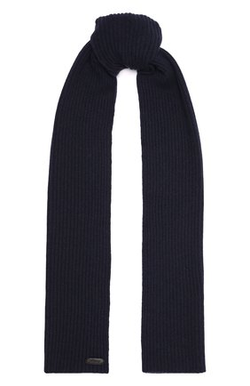 Мужской кашемировый шарф BRIONI темно-синего цвета, арт. 03MB0L/01K23 | Фото 1 (Материал: Шерсть, Кашемир; Кросс-КТ: кашемир)