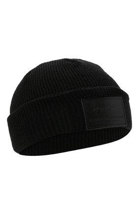 Мужская шапка YOHJI YAMAMOTO черного цвета, арт. HX-H68-977 | Фото 1 (Материал: Текстиль, Синтетический материал; Кросс-КТ: Трикотаж)