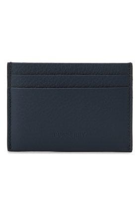 Мужской кожаный футляр для кредитных карт BURBERRY синего цвета, арт. 8043750 | Фото 1