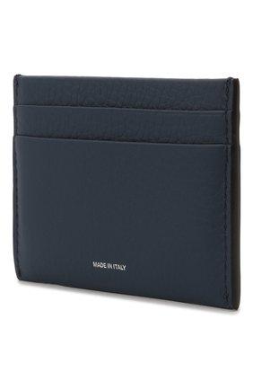 Мужской кожаный футляр для кредитных карт BURBERRY синего цвета, арт. 8043750 | Фото 2