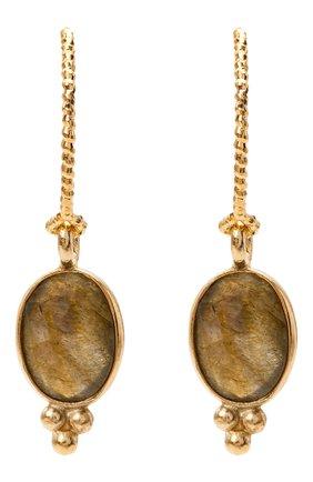 Женские серьги HANKA_IN золотого цвета, арт. AUR-CR-LAB | Фото 1 (Материал: Металл)