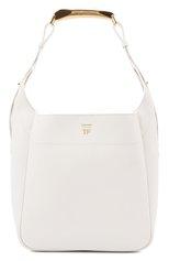 Женская сумка bianca TOM FORD белого цвета, арт. L1490T-LCL203 | Фото 1 (Материал: Натуральная кожа; Размер: medium; Ошибки технического описания: Нет ширины; Сумки-технические: Сумки top-handle)