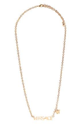 Женское колье VERSACE золотого цвета, арт. 1002579/1A00620   Фото 1 (Материал: Металл)