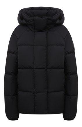 Женская пуховая куртка CANADA GOOSE черного цвета, арт. 2602LB   Фото 1 (Материал внешний: Синтетический материал; Материал утеплителя: Пух и перо; Материал подклада: Синтетический материал; Стили: Кэжуэл; Длина (верхняя одежда): Короткие; Рукава: Длинные; Кросс-КТ: Куртка; Женское Кросс-КТ: Пуховик-куртка)