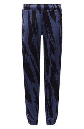 Женские джоггеры KENZO синего цвета, арт. FB62PA7354CA | Фото 1 (Материал внешний: Синтетический материал; Длина (брюки, джинсы): Стандартные; Стили: Спорт-шик; Женское Кросс-КТ: Джоггеры - брюки, Брюки-спорт; Силуэт Ж (брюки и джинсы): Джоггеры)