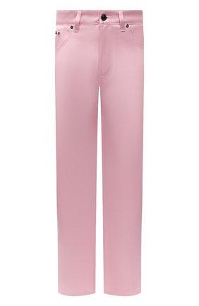 Женские джинсы TOM FORD светло-розового цвета, арт. PAD079-DEX134   Фото 1 (Материал внешний: Хлопок, Шелк; Стили: Гламурный; Кросс-КТ: Деним; Силуэт Ж (брюки и джинсы): Прямые; Длина (брюки, джинсы): Стандартные)