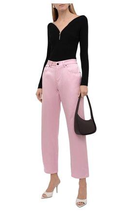 Женские джинсы TOM FORD светло-розового цвета, арт. PAD079-DEX134   Фото 2 (Материал внешний: Хлопок, Шелк; Стили: Гламурный; Кросс-КТ: Деним; Силуэт Ж (брюки и джинсы): Прямые; Длина (брюки, джинсы): Стандартные)