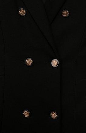 Детское платье из вискозы DAN MARALEX черного цвета, арт. 251568119   Фото 3 (Рукава: Короткие; Случай: Повседневный; Материал внешний: Синтетический материал, Вискоза; Девочки Кросс-КТ: Платье-одежда; Ростовка одежда: 13 - 15 лет   158 см)