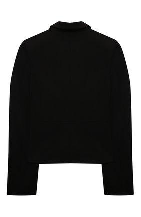 Детский жакет из вискозы DAN MARALEX черного цвета, арт. 208868119 | Фото 2 (Материал внешний: Вискоза, Синтетический материал; Рукава: Длинные; Девочки Кросс-КТ: Жакет-одежда)