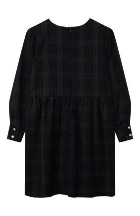 Детское платье DAN MARALEX зеленого цвета, арт. 251594134 | Фото 2 (Материал внешний: Вискоза, Синтетический материал; Рукава: Длинные; Девочки Кросс-КТ: Платье-одежда; Случай: Повседневный)