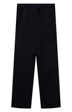 Детские брюки DAN MARALEX темно-синего цвета, арт. 260954213 | Фото 1 (Материал внешний: Синтетический материал, Вискоза; Девочки Кросс-КТ: Брюки-одежда)