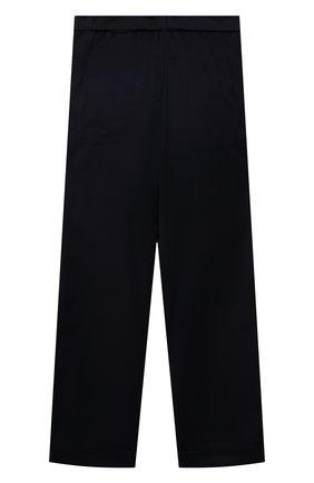 Детские брюки DAN MARALEX темно-синего цвета, арт. 260954213 | Фото 2 (Материал внешний: Синтетический материал, Вискоза; Девочки Кросс-КТ: Брюки-одежда)
