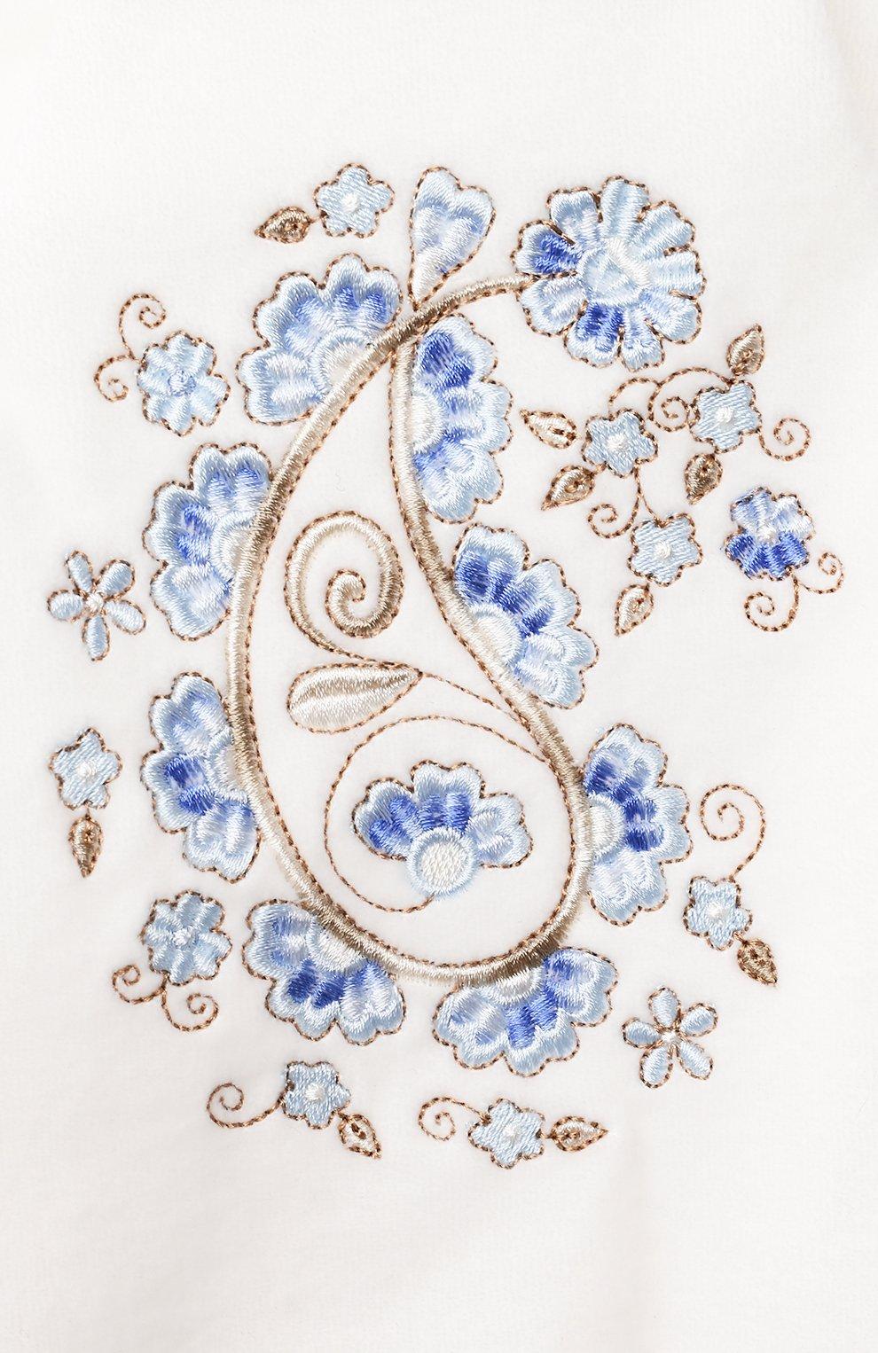 Детского комплект из четырех предметов ferrario CHEPE голубого цвета, арт. 071431 | Фото 2 (Материал внешний: Хлопок; Ростовка одежда: 0 - 3 мес | 50 - 60 см)