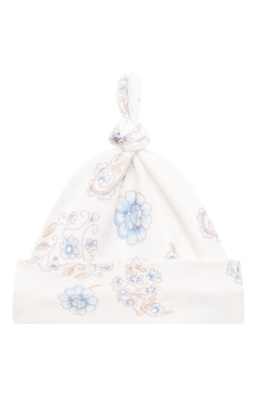 Детского комплект из четырех предметов ferrario CHEPE голубого цвета, арт. 071431 | Фото 7 (Материал внешний: Хлопок; Ростовка одежда: 0 - 3 мес | 50 - 60 см)