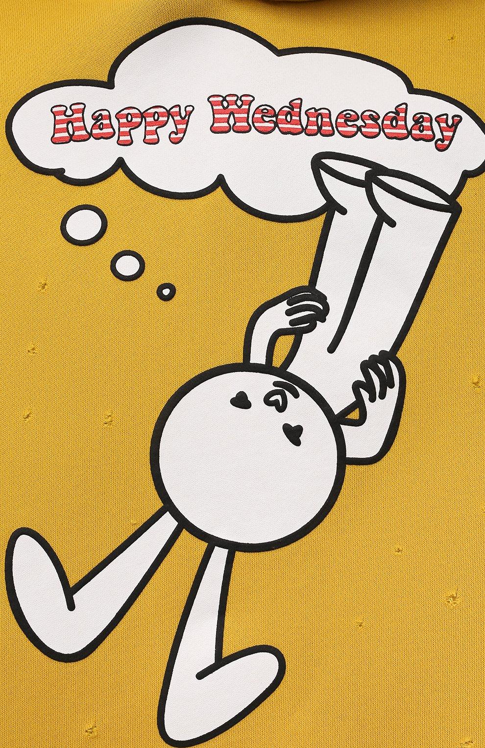 Детский хлопковое худи NATASHA ZINKO желтого цвета, арт. FW21MNZ503-23/10-14   Фото 3 (Рукава: Длинные; Девочки Кросс-КТ: Толстовка-одежда; Материал внешний: Синтетический материал, Хлопок; Ростовка одежда: 10 - 11 лет   140 - 146см, 12 лет   152 см, 13 - 15 лет   158 см)