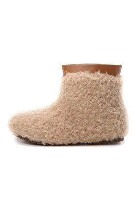 Детские ботинки AGE OF INNOCENCE бежевого цвета, арт. 000139/YETI MINI 2.0/29-35   Фото 2 (Материал внешний: Текстиль; Материал утеплителя: Натуральный мех)