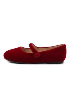 Детские балетки AGE OF INNOCENCE красного цвета, арт. 000153/ELIN VELVET/25-31 | Фото 2 (Материал внешний: Текстиль; Материал внутренний: Натуральная кожа)